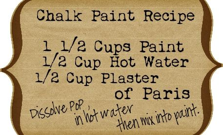 Good tip for making your own chalk paint