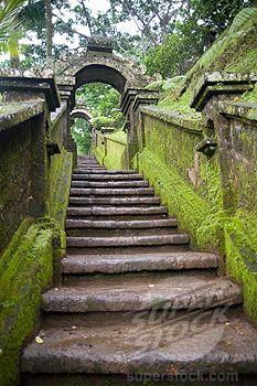 Bali, Indonesia; Stone staircase