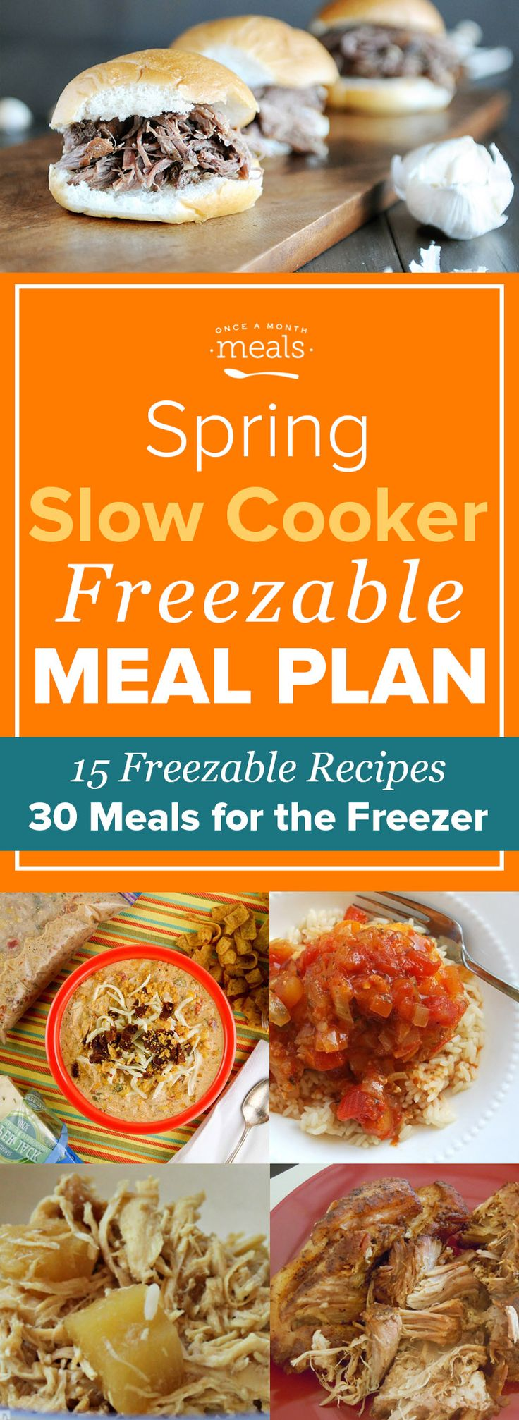 This Spring Slow Cooker Freezer Menu makes freezer cooking a breeze! From Jalapeño Corn Pudding to Orange Apricot Pork Chops these easy assembly meals will have you prepared to feed your family a stress-free home cooked dinner every night this month.