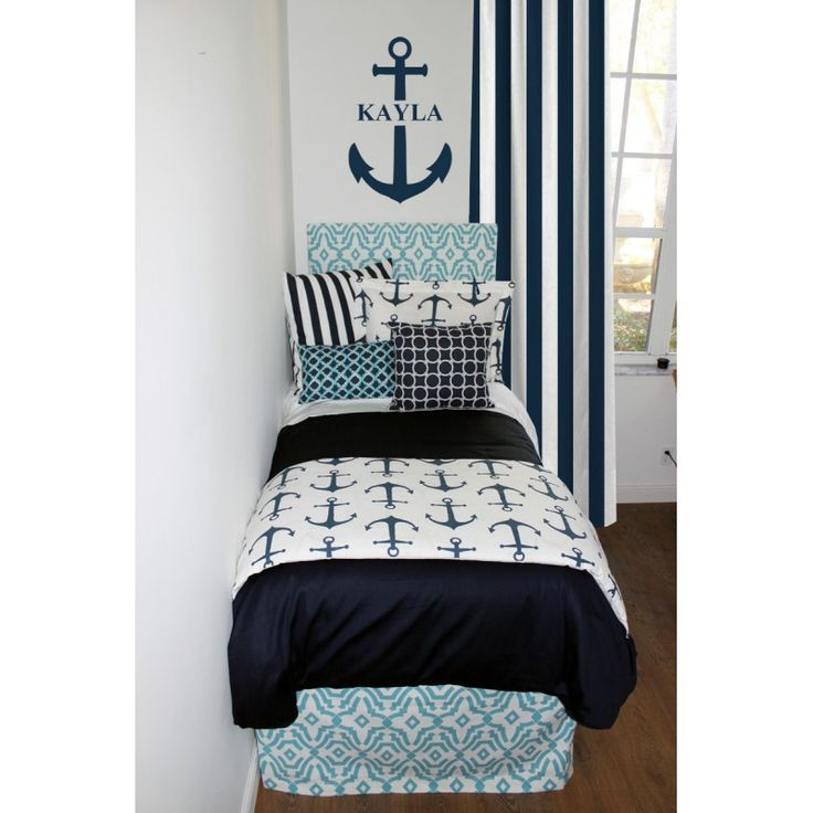 Coastal U0026 Navy Nautical Designer Bed In A Bag Set