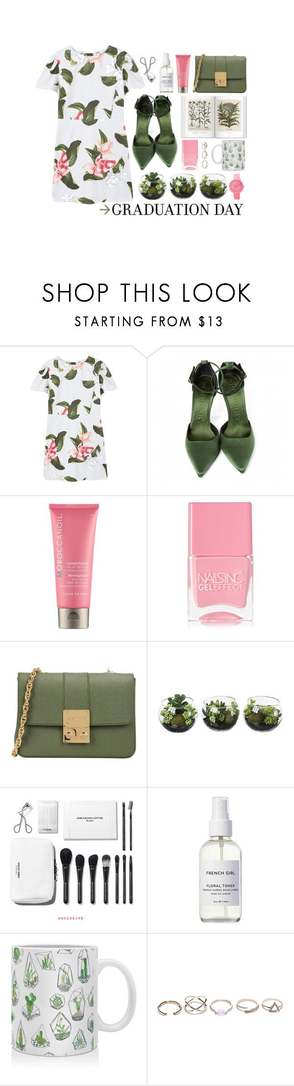 """""""like a life vest or a birds nest"""" by fernweeh on Polyvore featuring moda, MANGO, Burberry, Moroccanoil, Nails Inc., Design Inverso, French Girl, DENY Designs, GUESS i Crayo"""