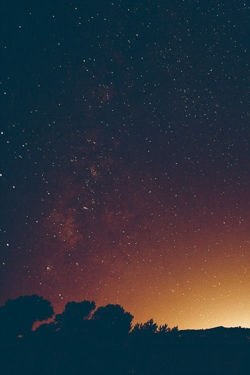 Stars after sunset