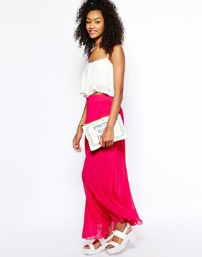 River Island Pleated Maxi Skirt