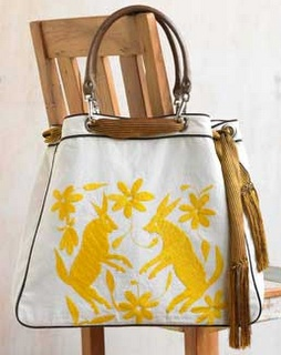 otomi fabric bag from mexico, so lovely