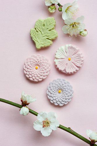 Japanese sweets. Higashi(干菓子)