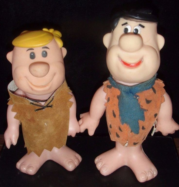 Fred Flinstone and Barney Rubble Dakin Figures / Flintstones-Hanna Barbera 1970
