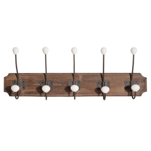 Attaccapanni 5 ganci in legno MARRONNIER