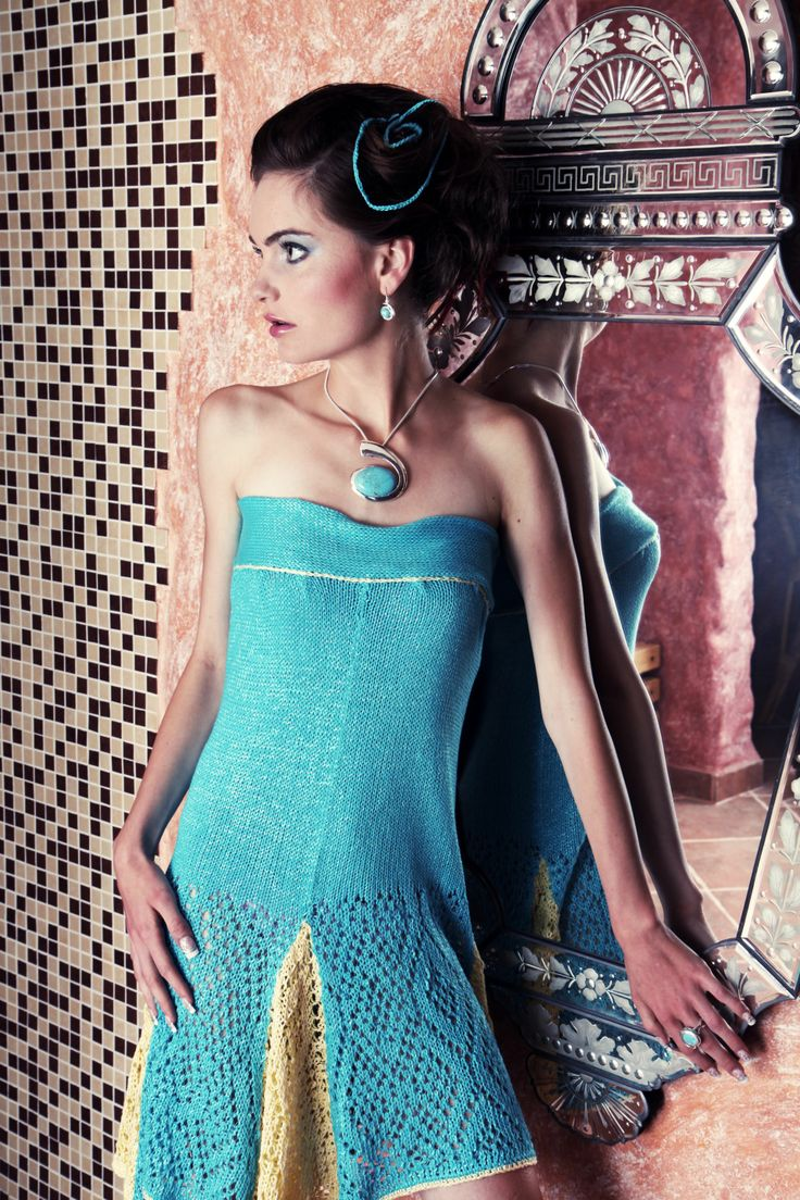 touch of summer #knitted #dress #prom