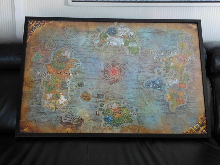 Große Azeroth Karte World of Warcraft Fantasy von TheosLittleShop