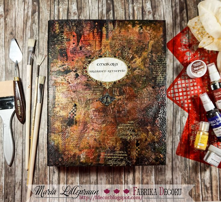 Mixed media folder by Maria Lillepruun