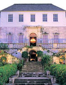 Rose Hall Great House. The largest existing plantation Great House in the Caribbean.  It was once the home of Annie Palmer, known as the white witch of Rose Hall. Ocho Rios, JAMAICA.