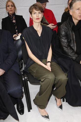 Front Row Balenciaga FW 16 Stella Tennant Hair by #HugoRaiah
