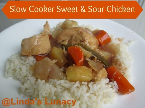Slow Cooker Sweet and Sour Chicken - Linda's Lunacy