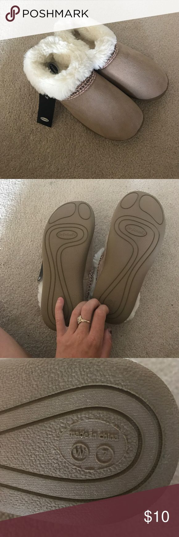 NWOT Dr. Scholls Moccasins Brand new! Super soft and comfy slippers for lounging around or your winter trips to the grocery store. Dr. Scholl's Shoes Moccasins