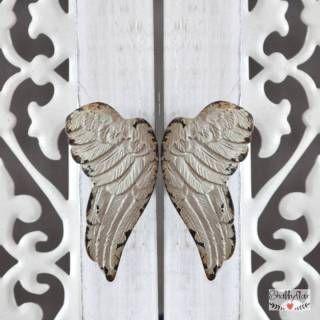 shabbyflair - Diese Engelflügel als Türgriff / Möbelknauf sind ein Traum