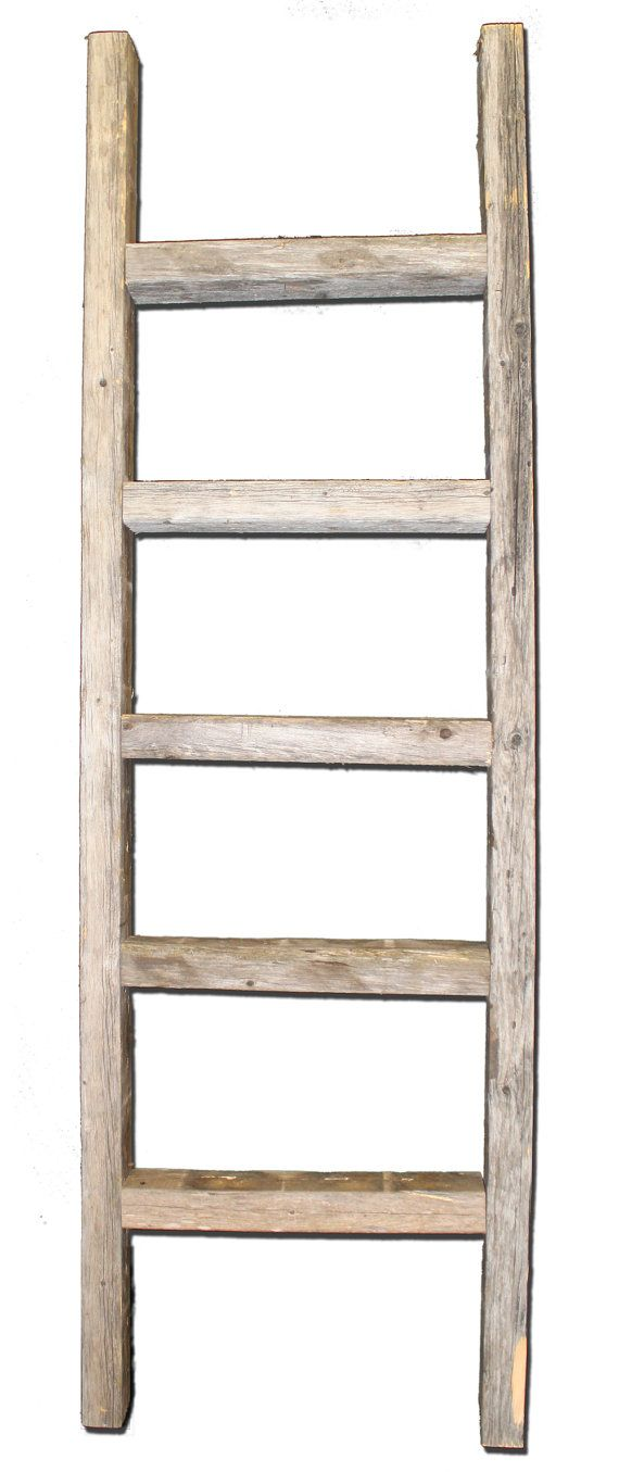 Rustic Reclaimed Wood Ladder by RusticDecorFrames on Etsy, $25.00 - Great for hanging scarfs, shoes, towels, or use for a simple art piece.