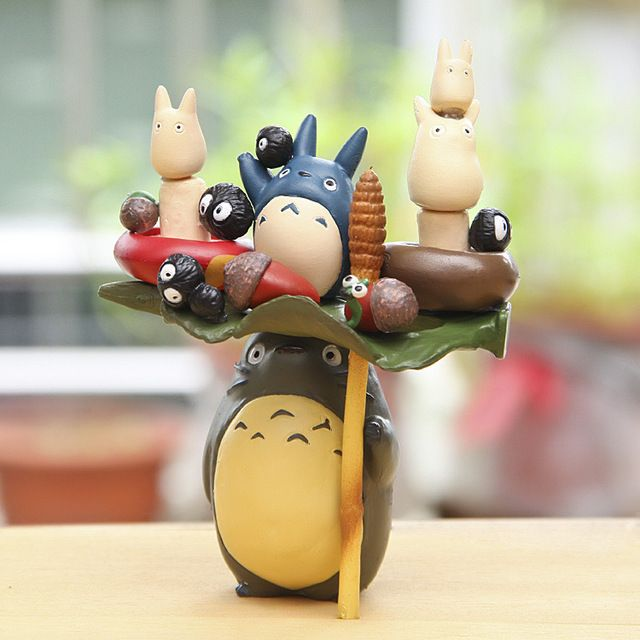 Anime Cartoon Action Figures Toy Hayao Miyazaki PVC TOTORO Family Model Toys Juguetes with BOX Excellent Gift