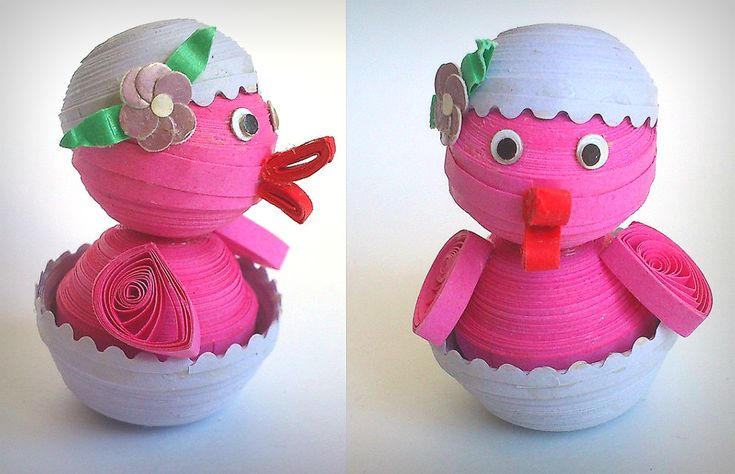 Decorazioni di Pasqua fai da te con il quilling - Fotogallery Donnaclick