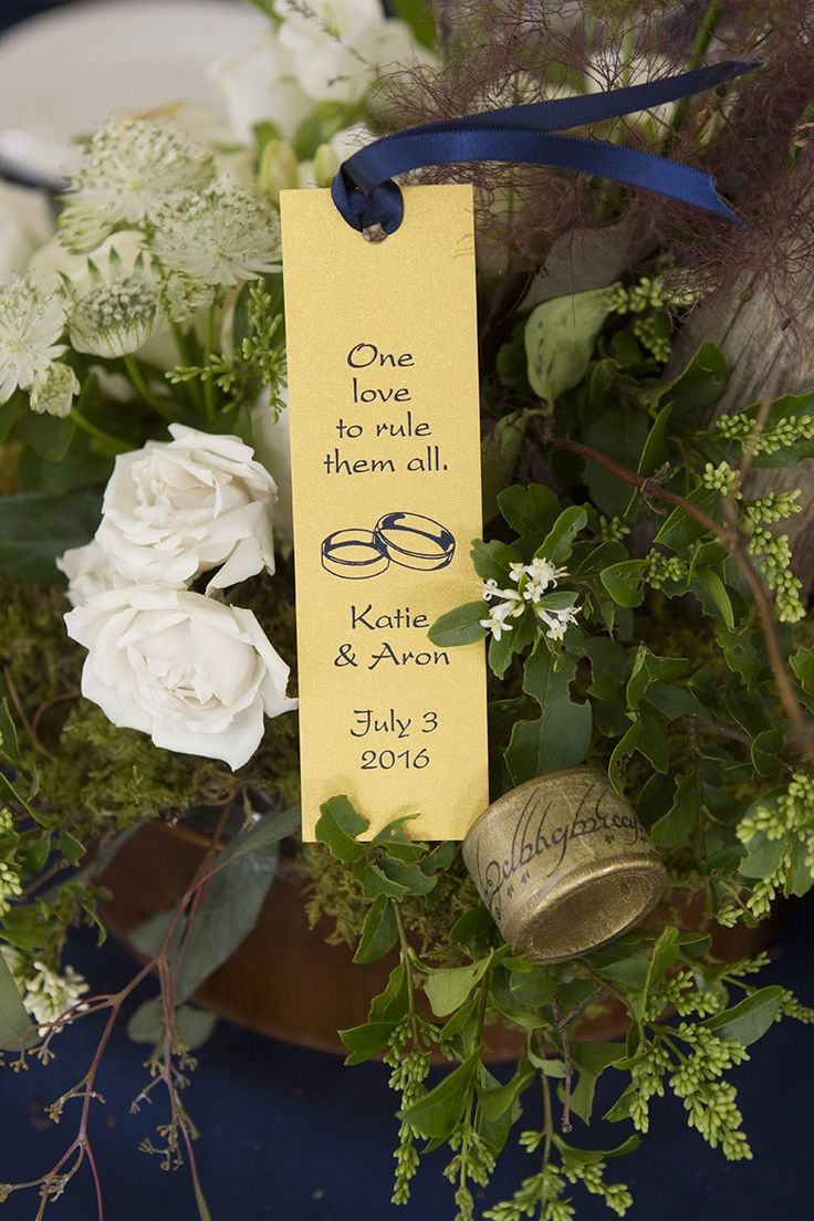 "Find the ""one napkin ring"" at this Middle Earth wedding"