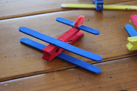 Clothespin Airplane Kids Craft Kit - Makes 4 planes ...