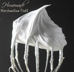Homemade Marshmallow Fluff- perfect for the classic peanut butter sandwich, a dip for fruit, filling for cakes, or simply dollop on top of a cup of hot cocoa! Find the recipe at bostongirlbakes.com