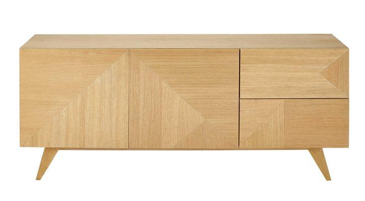 Anrichte aus Holz, B 165cm Origami