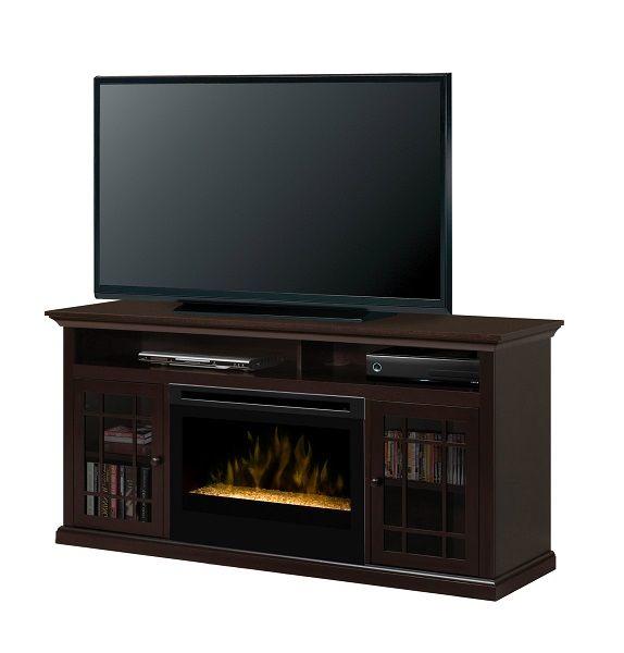 "Dimplex Hazelwood electric fireplace media cabinet with 25"" firebox; $899 cdn"