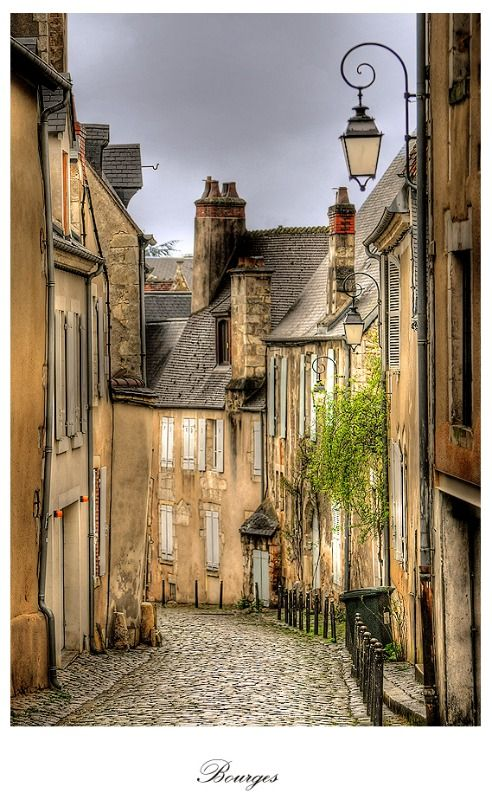 Bourges, France. Bourges is a city in central France on the Yèvre river. It is the capital of the department of Cher (18).
