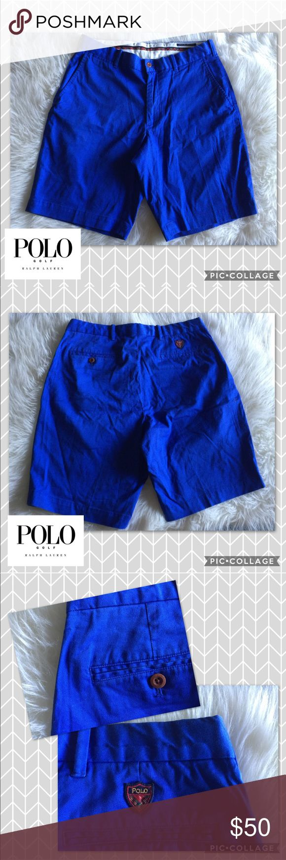 Polo Golf Shorts Men's Polo Golf Shorts 🏌🏻🐎 NWOT  🔹Blue  🔹Cotton Twill With Stretch  🔹From the Ralph Lauren, Polo Golf collection 🔹Similar pair retail for $75 on Ralph Lauren website. Ralph Lauren Shorts