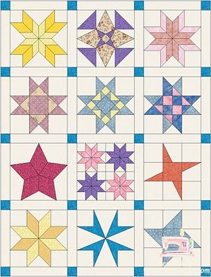 Piece N Quilt: Star Quilt {Block of the Month} Quilt Along - one a month and you'll have it done in a year!