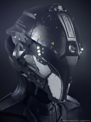 military styled helmet concept with night vision