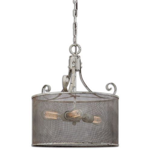 Pontoise Dark Espresso Three Light Drum Pendant Uttermost Drum Pendant Lighting Ceiling Li