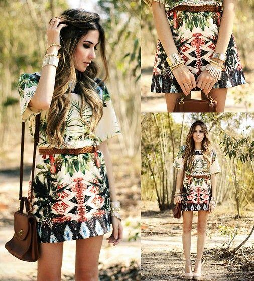 We love how Flavia works these prints! vestidos casuales que no pueden faltar!