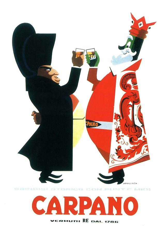 Armando Testa, Re Carpano Napoleone, 1949-51