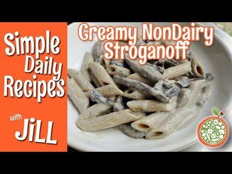 Whole Food Plant Based Mushroom Stroganoff