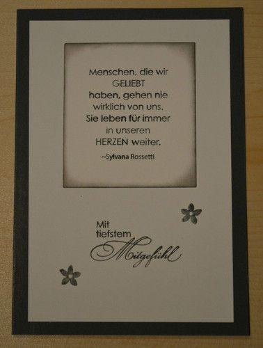 Karte Trauer / Beileid / Beerdigung / Anteilnahme mit Stampin Up | eBay