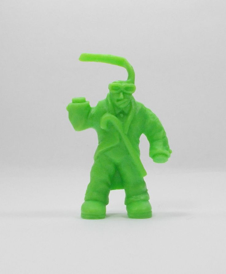 Monster In My Pocket - Series 1 - 46 Invisible Man - Neon Green - Mini Figure