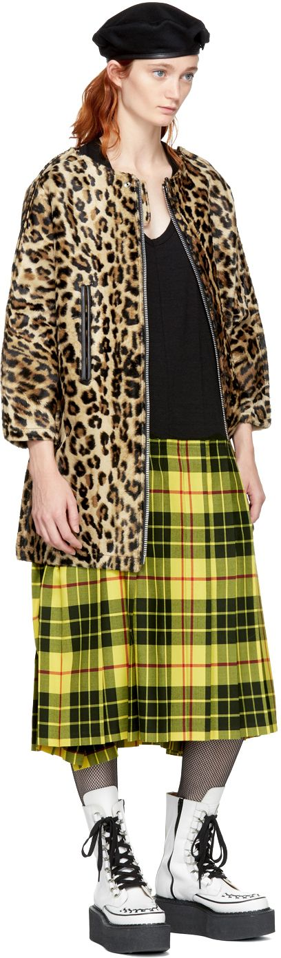 Junya Watanabe - Beige & Brown Leopard Coat
