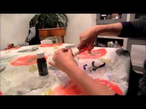 Hoe maak je spray van Alcohol en viltstift voor Mixed Media - YouTube