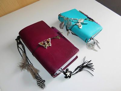 My 2 gorgeous  @TravelersTimes leather travelers notebooks #BohoStyle http://www.gadgetgirlreviews.com/2016/10/my-new-travelers-times-teal-temptation.html#more