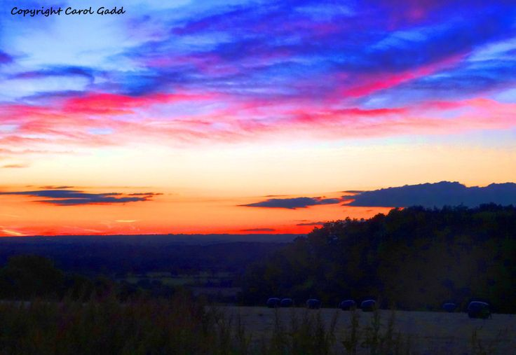Sunset over Greenhill, Original photography print, sunset,landscape, Wiltshire, countryside, British, art, collectibles, home by ByGaddArtandDesign on Etsy