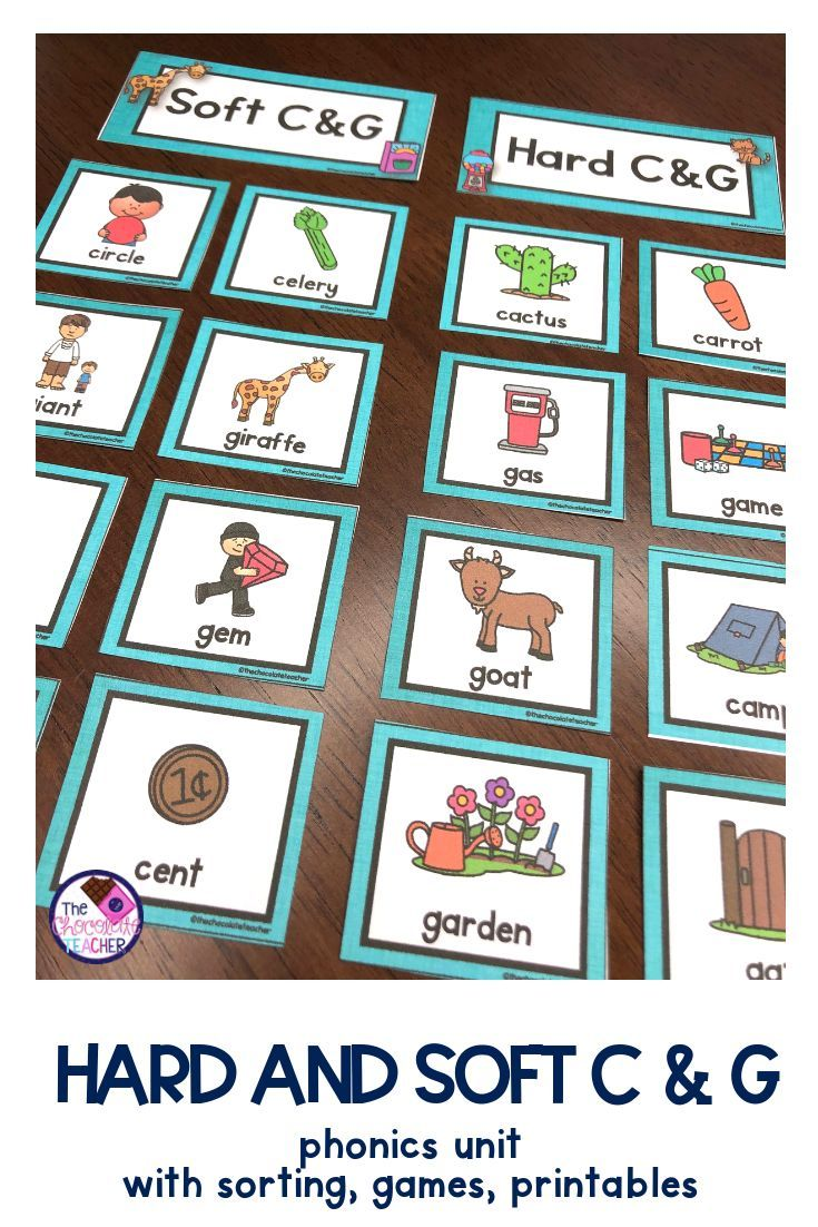 small resolution of Teaching the hard and soft C and G sounds can be tricky business! This fun  phonics product is full of activities to…   Phonics