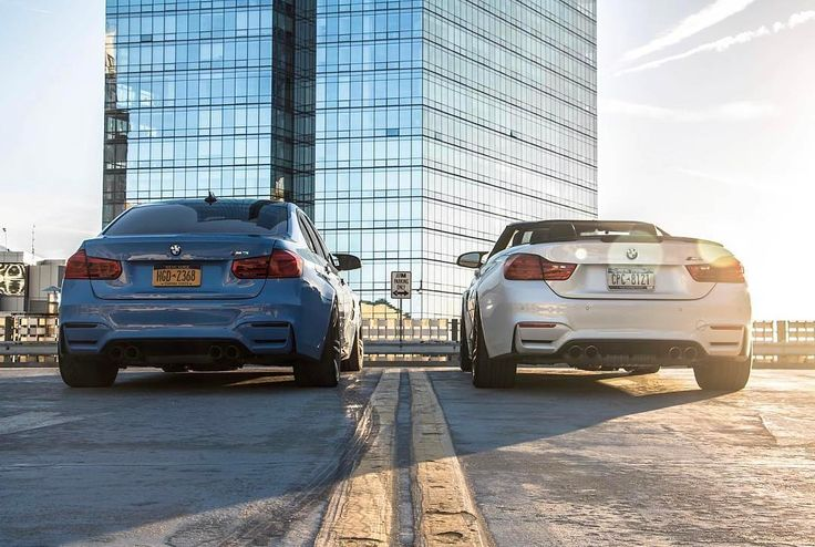 Performance partners.  The #BMW #M3 Sedan and #BMW #M4 Convertible.  #BMWrepost @philsags @hashtagm4 @seanovoxo  ___________  Fuel consumption and CO2 emissions for the BMW M3 Sedan: Fuel consumption in l/100 km (combined): 8.8 - 8.3 CO2 emissions in g/km (combined): 204 - 194  Fuel consumption and CO2 emissions for the BMW M4 Convertible: Fuel consumption in l/100 km (combined): 9.1 - 8.7 CO2 emissions in g/km (combined): 213 - 203  Further information about the official fuel consumption…