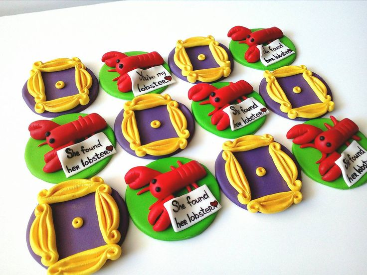 Friends fondant cupcake toppers TV show Edible handmade 12 ...