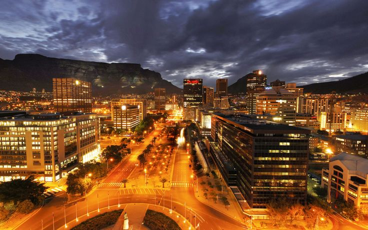 Cape Town City at Night.