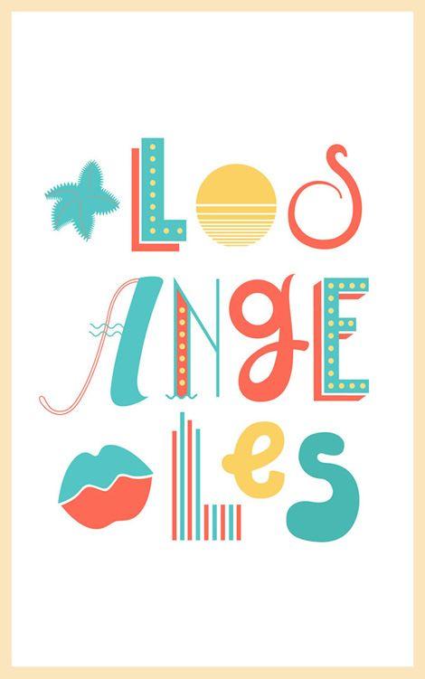 studio patten: Design Inspiration, Graphic Design, Los Angeles Illustration, Angeles Poster, Art, Angeles Card, West Coast