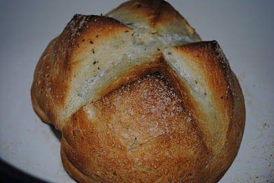 Dutch Oven Herb Bread-9/23/12- Very good, moist bread, crisp crust.