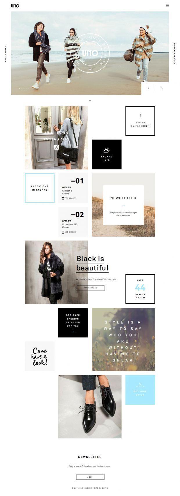 Uno Knokke - Selected Designer Fashion - Barbara Bui, Pinko, Patrizia Pepe, Clio Goldbrenner, Enes, Baum und pferdgarten - Best Webdesign inspiration on www.niceoneilike.com