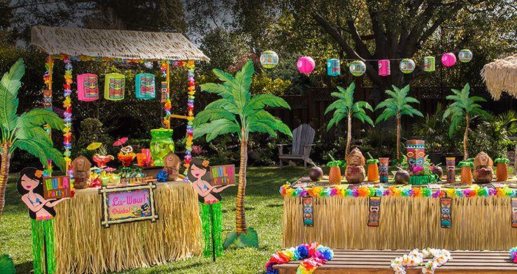 Luau Party Supplies - Hawaiian Luau Decorations - Party City