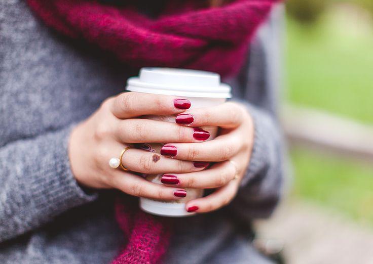 fall nails, burgundy #nails